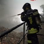 Intervento per incendio (Foto Vigili del fuoco)