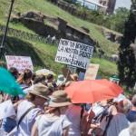 Un momento della manifestazione (Foto Omniroma)
