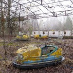 The bumper cars were scheduled to be turned on May 1, 1986, for the Soviet May Day celebrations in Pirpyat, Ukaraine. That was, however, about a week after the Chernobyl disaster and desertion of the community.