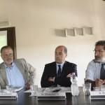 Nicola Zingaretti, Carlo Hausmann e Antonio Rosati (Foto Omniroma)