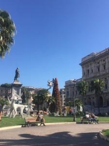 L'albero di Natale a piazza Cavour