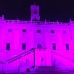 Il Campidoglio in rosa per la lotta contro il tumore al seno