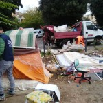 Intervento decoro (Foto polizia locale di Roma Capitale)