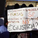 La protesta in Campidoglio (Foto Omniroma)