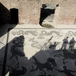 Il decumano restaurato (Foto Omniroma)