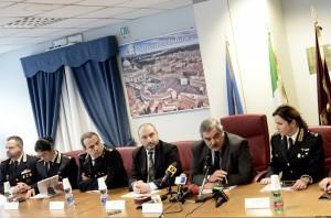 Conferenza stampa in Questura (Foto Omniroma)