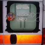 Ambulanza danneggiata