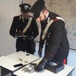 CASSIA - Le armi sequestrate dai Carabinieri (1)